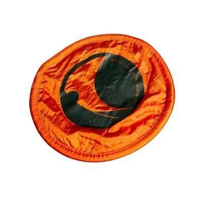 Orange Nylon Travel frisbee