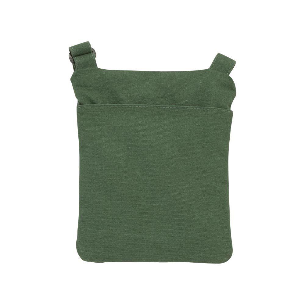 Brown canvas ipad mini travel bag - Back View