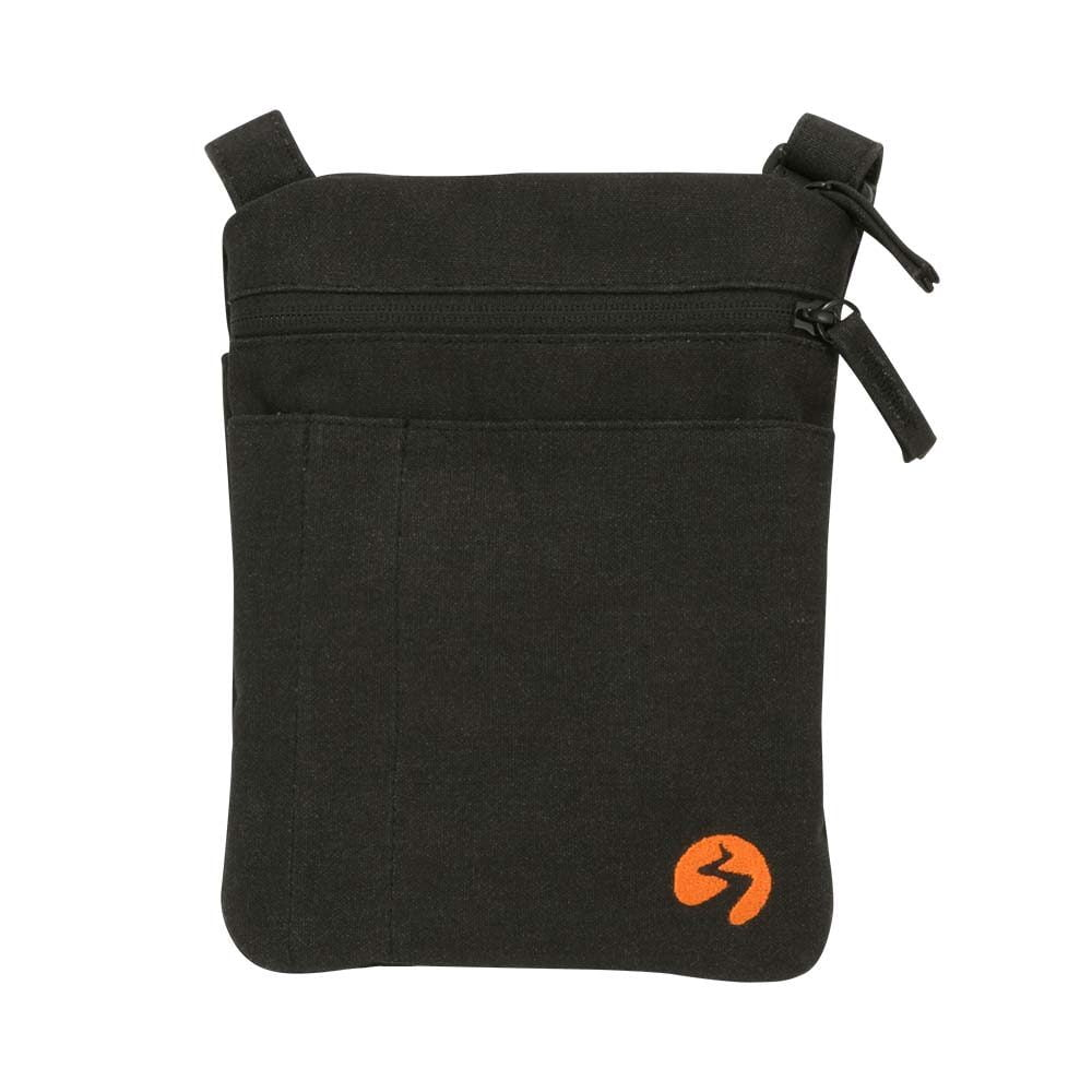 Black canvas ipad mini travel bag - Front View